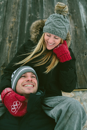 Cassie & Brent, Winter Engagement, ©Katehood.ca, 2014