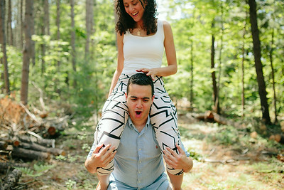 Mike and Amy//Muskoka Engagement Photos