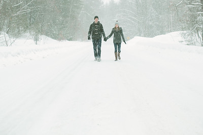 Stefanie and Zach//Winter Engagement, ©KateHood.ca, 2014